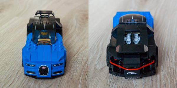 Lego Bugatti Chiron Front & Back