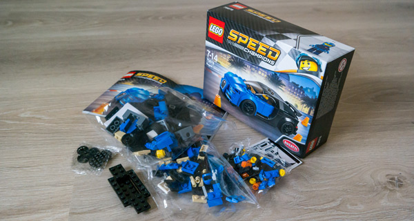 Lego Bugatti Box Opened