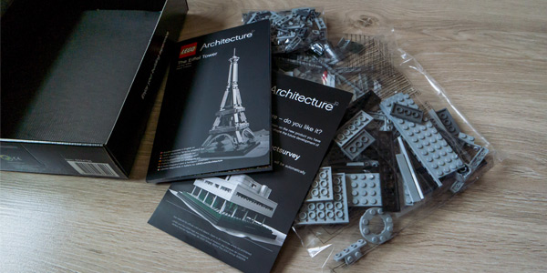 Lego Eiffel Tower Unboxing