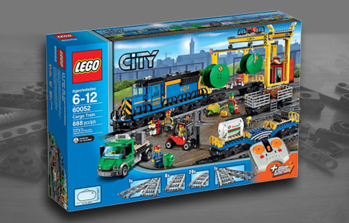 Lego City Cargo Train 60198 set and 60052 (Comparison)