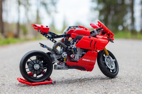 Lego Technic Ducati Panigale on a Road