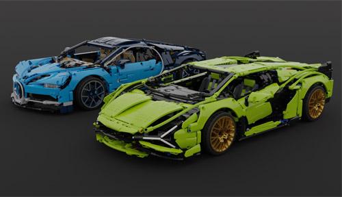 Lego Technic Lamborghini Sian vs Bugatti Chiron Small