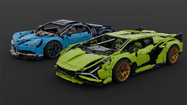 Lego Lamborghini and Bugatti