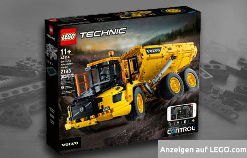 Lego Knickgelenkter Volvo-Dumper